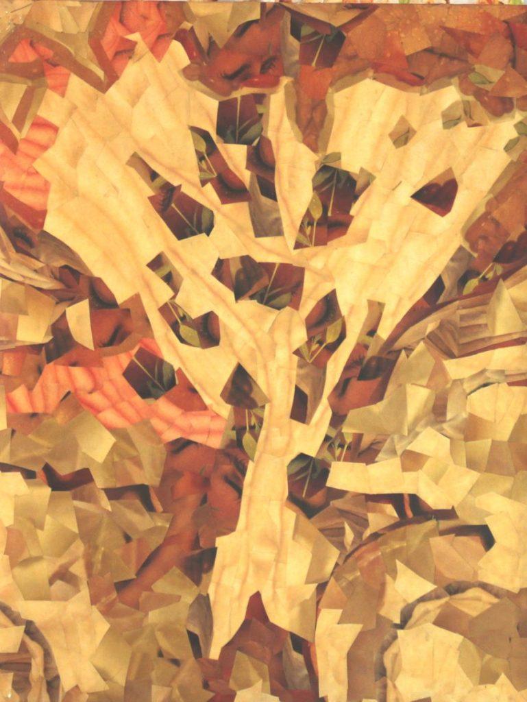 Der Baum des Lebens (klein), 50x60cm, Collage, ca.2000